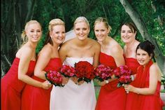 True Bride | Red Bridesmaid Dresses