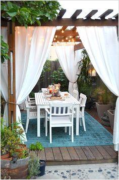 Angolo pranzo in giardino! Ecco 20 bellissimi esempi a cui ispirarsi