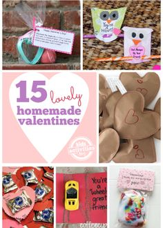 Homemade Valentines are the best kind! With Valentine's Day coming up with thought you might enjoy these ideas from Kids Activities Blog! http://kidsactivitiesblog.com/49367/homemade-valentines