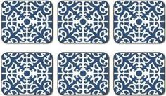 Jason Chelsea Damask Coasters - Set of 6: Amazon.co.uk: Kitchen & Home
