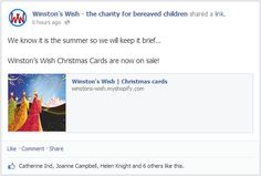 We know it is the summer so we will keep it brief…  Winston's Wish Christmas Cards are now on sale!