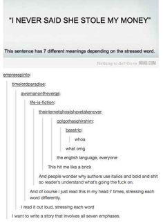 17 Hilarious Tumblr Posts That Will Make You Question Everything You Know About Language (BuzzFeed): damnit English.