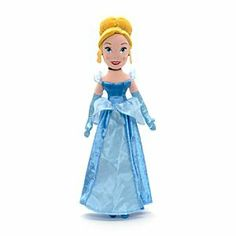 Disney Cinderella Soft Toy Doll | Disney StoreCinderella Soft Toy Doll - Our gorgeous Cinderella soft toy doll is ready for the ball in her soft dress with netted overlay and silver sparkles. Her outfit is beautifully finished off with satin elbow-length gloves.