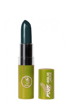 Pin for Later: 25 Vampy Lipsticks Ideas to Create an Easy, Affordable Halloween Look Green Glamour: Pout Pout Matte Lipstick in Deep Sea Green ($6)