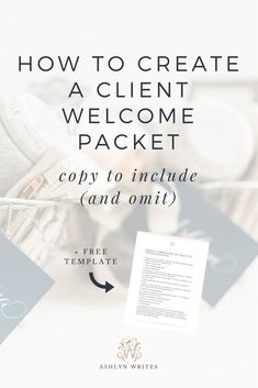 How to Create A Client Welcome Packet | Business Tips #womeninbiz #smallbusiness