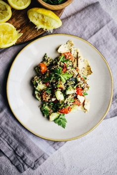 The Wiegands: gluten-free toasted quinoa tabbouleh.