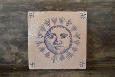 "Handmade stoneware tile ""sol"" by PortugueseSun on Etsy"