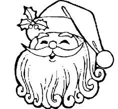 Santa Claus Face Printable  Santa Face Coloring Page  LETS