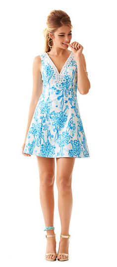 Brynn fit-and-flare dress // Lilly Pulitzer