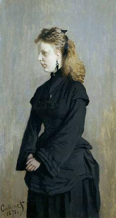 CLAUDE MONET – Portret van mej. Guurtje van de Stadt, 1871 / Portrait of miss Guurtje van de Stadt |  Kröller-Müller Museum