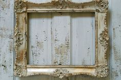 Large frame painted cream distressed gold by AnitaSperoDesign, $150.00