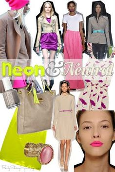 Color Inspiration: Neon and Neutral