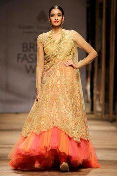 c60654145d A look by Tarun Tahiliani for Azva at India Bridal Fashion Week. #saree #