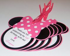 Minnie Mouse Party Favor Tags