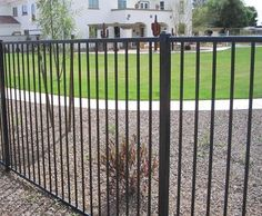 "Montage - The leader in residential welded steel fence, the Montage ornamental series is stronger than aluminum fence, with 5/8"" square pickets and 2"" square posts."