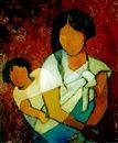 Maternité mauve de Louis Toffoli