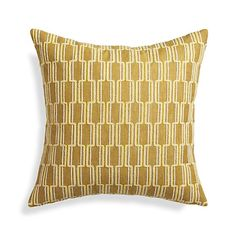 """Azulejo Yellow 18"""" Pillow    Crate and Barrel"""