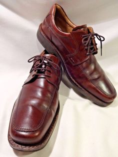 ECCO EU 45 Cordovan Brown Mens Lace Up Leather Dress Shoes Derby Men US 11 11.5 #ECCO #Derby