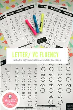 Letter sound and VC (vowel-consonant) Fluency Pages.  Young learners need opportunities to practice newly learned skills....This activity is perfect for students to practice their letter names, letter sounds, and blending vc sounds.   #lettersounds #letternames #vowelconsonant #fluency