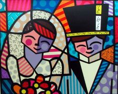 I absolutely LOVE Romero Britto. Rob and I have this piece along with another in our room. Graffiti I, Graffiti Painting, Arte Pop, Arte Country, Picasso Art, Zombie Art, Paper Architecture, Teaching Art, Stone Art