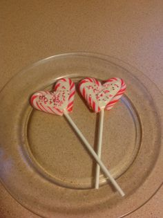 Candy cane lollipop