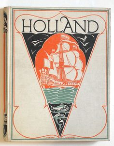 Holland, vintage book cover
