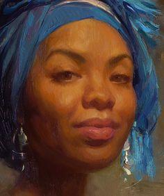 Scott Burdick 2009 'Andrea in Blue Scarf' (detail)