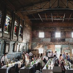 Asylum in London is a venue built in 1826 & bombed  in WWII.. this space & it's original stained glass windows are still standing. What could be more significant than getting married in a building that has survived such hard times?!