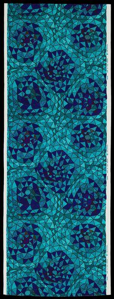 Swedish 1952 Designed by Viola Gråsten (Swedish (born in Finland), 1910–1994), For Nordiska Kompaniet's Textilkammare (Swedish)