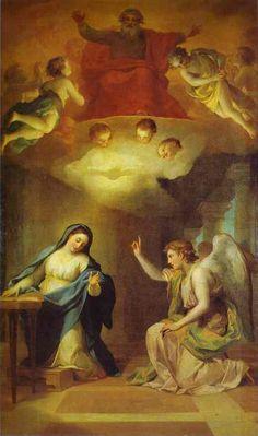 Anunciación de Anton Raphael Mengs. Museo del Hermitage