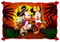 This HD wallpaper is about Cartoon Mickey And Minnie Mouse Sunset Romantic Couple Hd Wallpapers Original wallpaper dimensions is file size is Mickey E Minnie Mouse, Mickey Mouse And Friends, Disney Mickey, Walt Disney, Image Mickey, Mickey Mouse Wallpaper, Mosaic Pictures, Disney Artwork, Disney Pictures