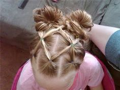 This is so cute especially for a little girl, but it also works with 1 bun for older girls. Its really easy to.