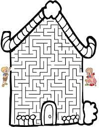 This candy cottage shaped maze is a fun printable fairy tale maze for preschool of school aged kids who love the classic fairy tale of Hansel and Gretel. Math Sheets, Activity Sheets, Mazes For Kids, Worksheets For Kids, Fall Preschool, Preschool Activities, Adventure Stories For Kids, Coloring Books, Coloring Pages
