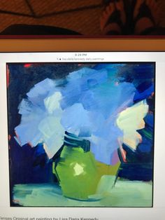Happy Flowers, Still Life Art, Abstract Flowers, Famous Artists, Art Lessons, Projects To Try, Canvas, Sketching, Cravings