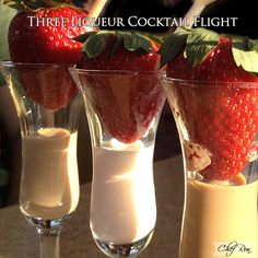 Three Liqueur Cocktail Flight