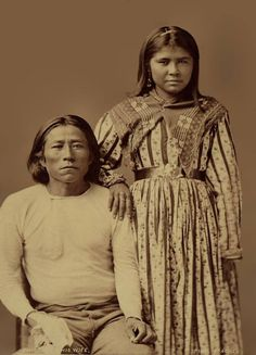Chiquito and his wife - Pinal Apache - 1876.jpg