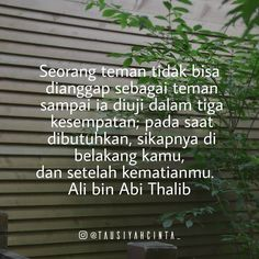 Kata Kata Ali Bin Abi Thalib Tentang Sahabat