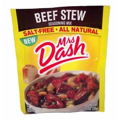 Salt-Free, All Natural Mrs Dash Beef Stew Seasoning Mix! The perfect blend of spices and flavors in this mix make your beef stew delicious! This is a fantastic seasoning mix full of flavor! Mrs Dash Seasoning, Beef Stew Seasoning, Seasoning Mixes, Seafood Recipes, Gourmet Recipes, Mexican Food Recipes, Dessert Recipes, Desserts, Dessert Food