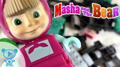 Masha and the Bear Train Railroad Toys for Kids Mascha und der Bär Маша ...