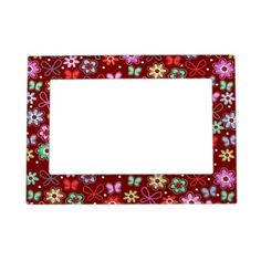 Butterfly Red Passion Picture Frame Magnets