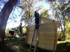 Sauna Roof Build - YouTube
