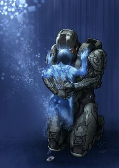 master chief and cortana art - Google Search