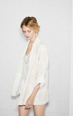 EMBROIDERED AND BEADED KIMONO - Blazers - TRF - ZARA United States