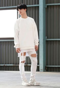 Dressed in white like an angel