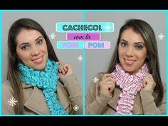 DIY - Cachecol com Lã Pom Pom Sem Agulhas - YouTube