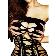 Daisland Women Sexy Lingerie Body Stocking Bodysuits Babydoll Sleepwear. Size: one size fits US Size XS, S, M L XL 2XL 3XL. Very stretchy. Material: polyester, etc, soft and comfortable to wear. Super sexy, more attractive, spicing up your sex life. Wash ways: hand-wash with cold water, or machine-wash with laundry bags to protect the lingerie. Package included: 1 dress. Jewelry, bra, underwear, and other accessories in the pictures are excluded in this item. Shipping and packaging: same day…