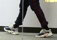 #sneakers #news  Is Kanye West Wearing The adidas Yeezy Runner?