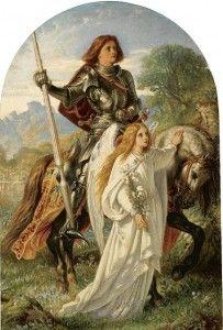 SIR GALAHAD AND THE ANGEL - painting by Joseph Noel Paton