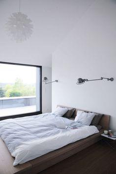 modern + minimal bedroom