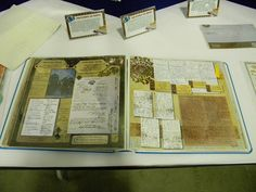 Genealogy Scrapbook Pages